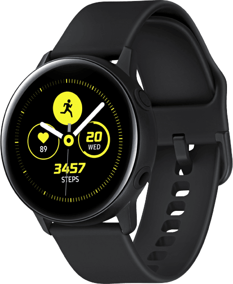 Black Samsung Galaxy Watch Active, 40mm.2