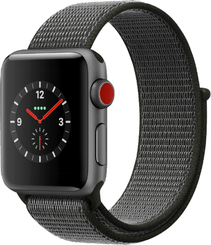 Spacegray Apple Watch Series 3 GPS + Cellular, 38mm.1
