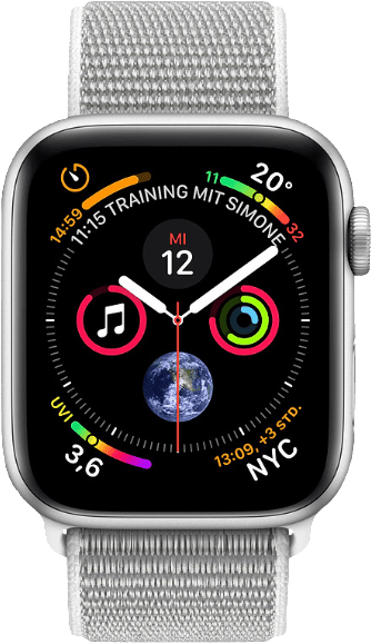 Seashell & Silber Apple Watch Series 4 GPS + Cellular, 40mm.1