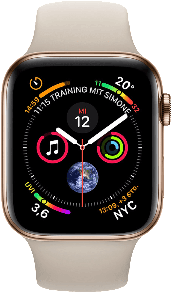 Stone & Gold Apple Watch Series 4 GPS + Cellular, 40mm Stainless steel case, Sport loop / band.1