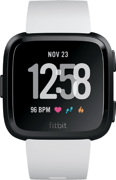 White / Black Fitbit Versa.1