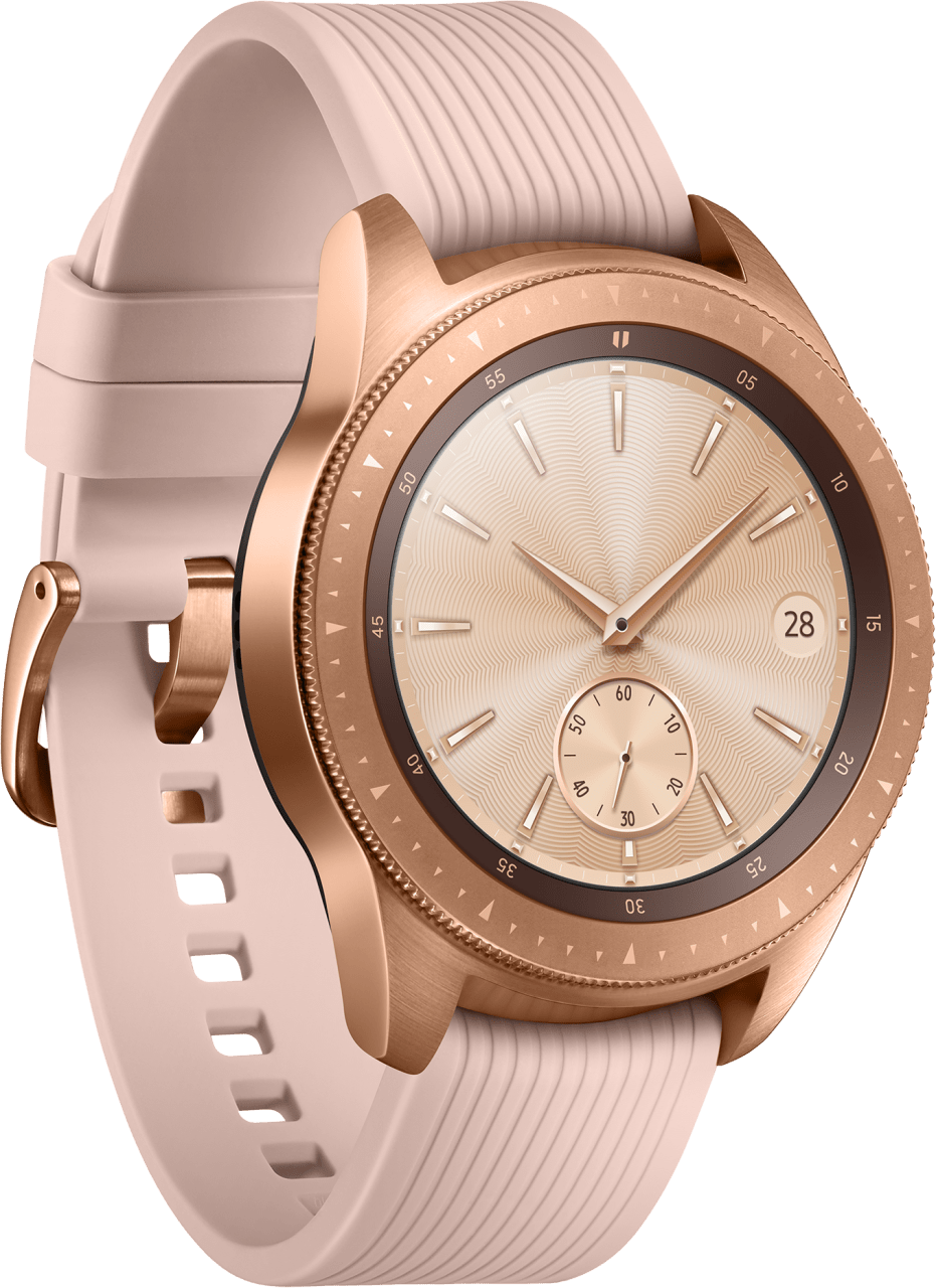 Rose Gold Samsung Galaxy Watch LTE, 42mm Stainless steel case, Silicone band.2