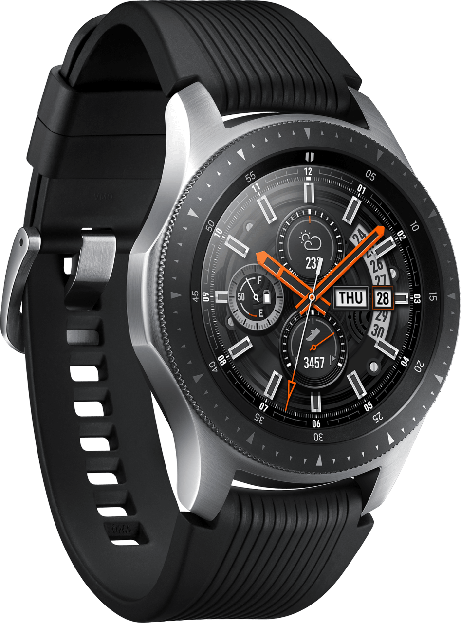 Silver Samsung Galaxy Watch, 46mm.2