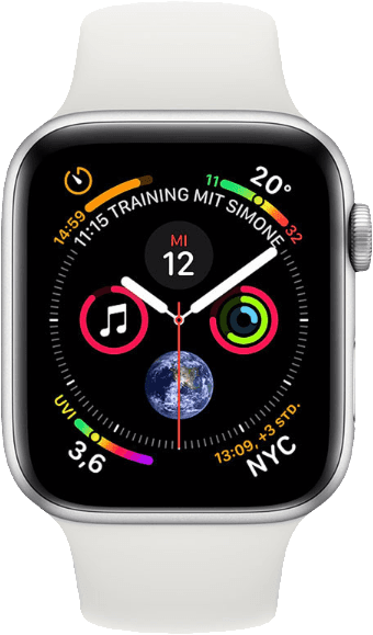White & Silver Apple Watch Series 4 GPS + Cellular, 40mm.1