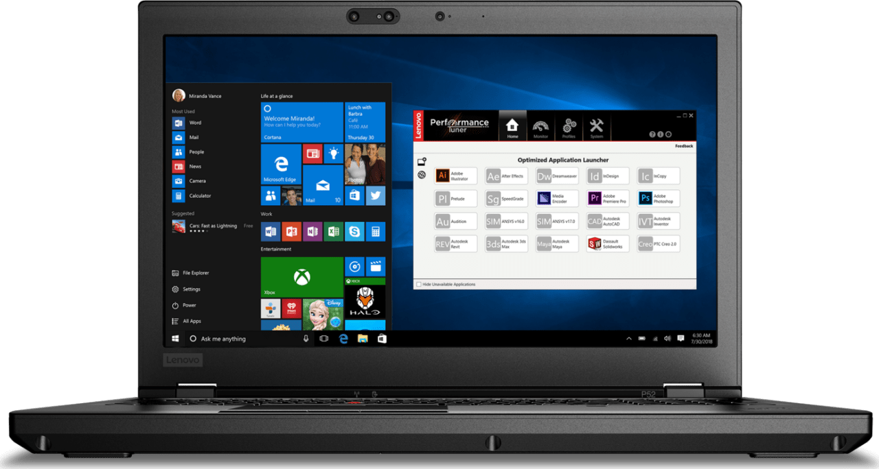 Black Lenovo ThinkPad P52.1