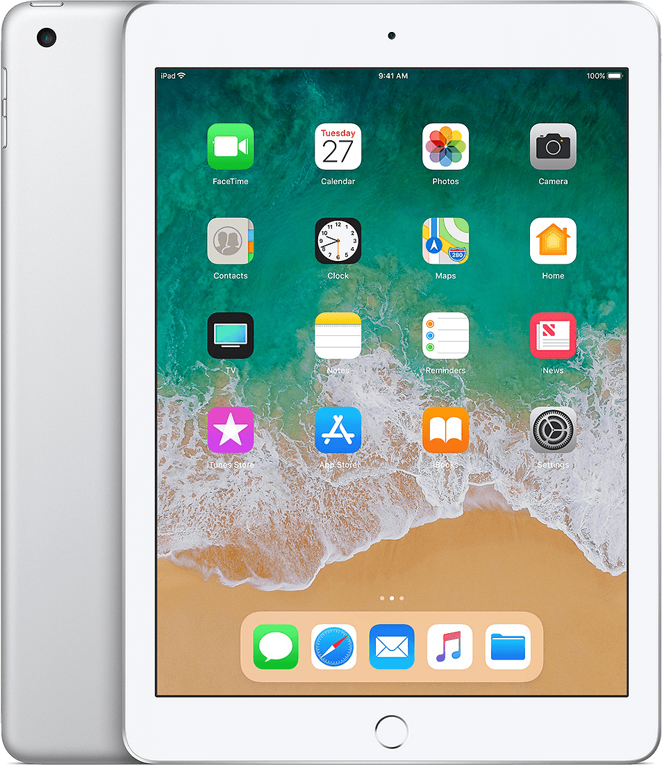 Silver Apple iPad Wi-Fi (2018).1