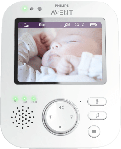 Weiß PHILIPS SCD 843/26 Digitales Video Babyphone.3