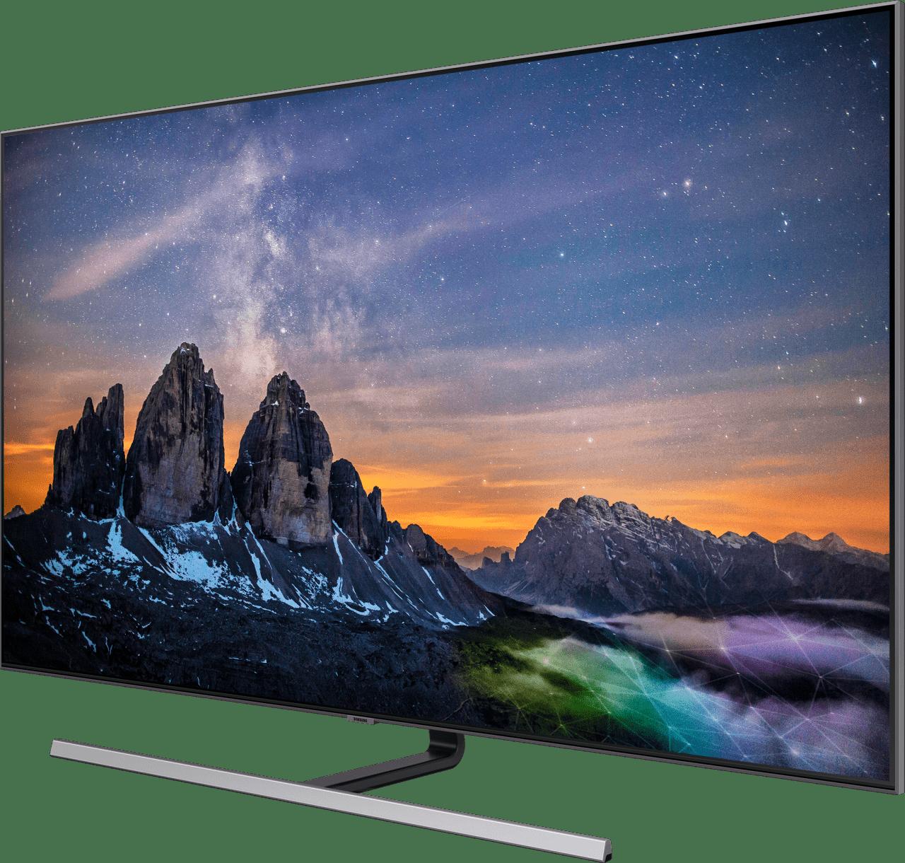 """Silver Samsung TV 55"""" Q80R.3"""