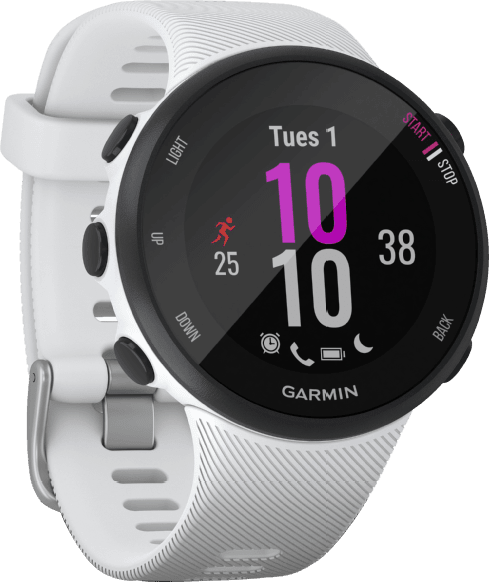 White Garmin Forerunner 45S GPS Sports watch.1