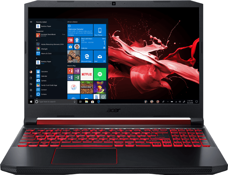 Black / Red Acer Nitro 5 AN515-54-53Z2.1