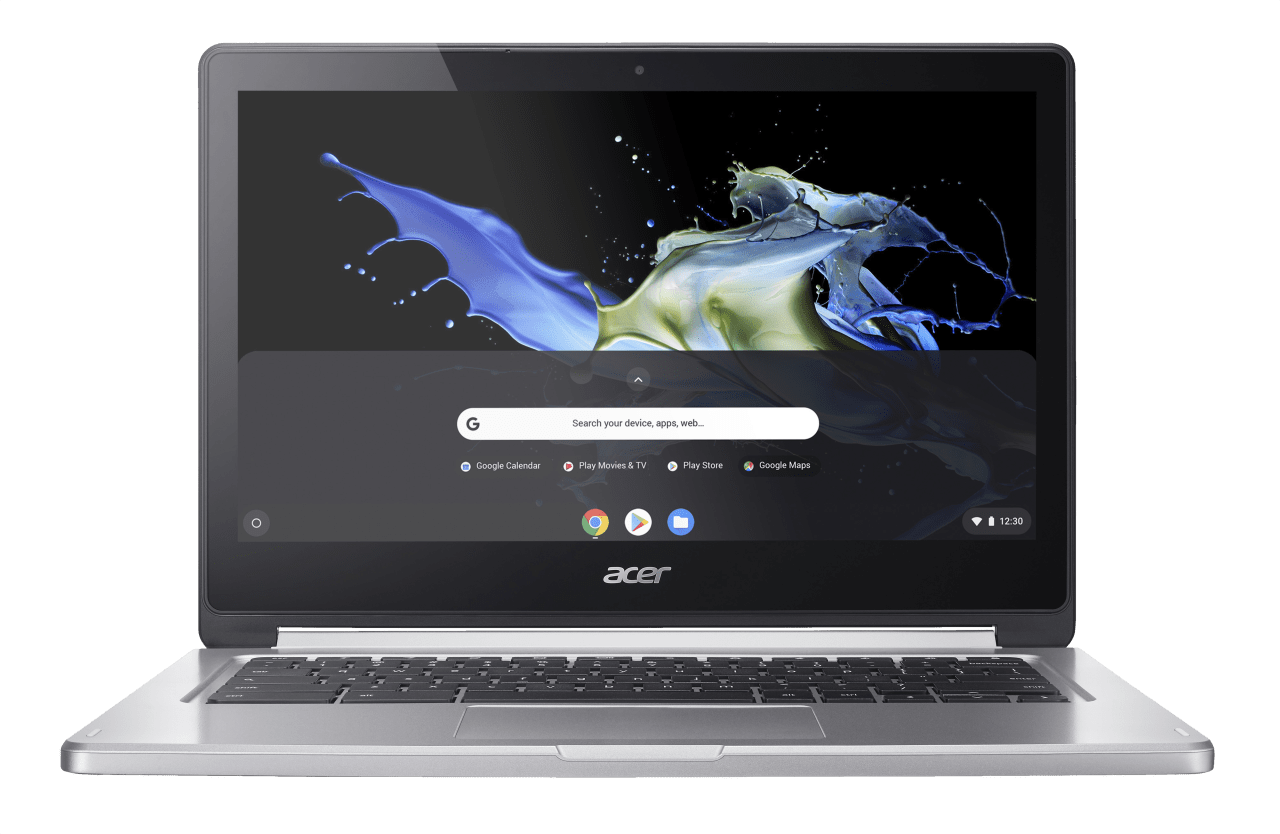 Silver Acer Chromebook R 13.1