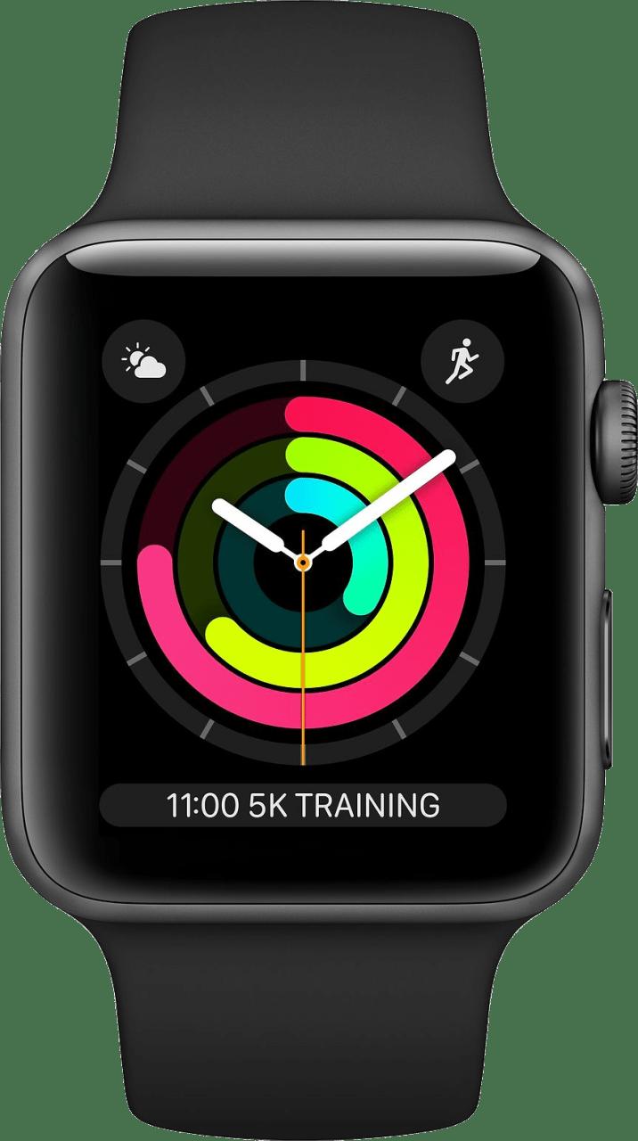 Schwarz Apple Watch Series 3 GPS, 42mm.1
