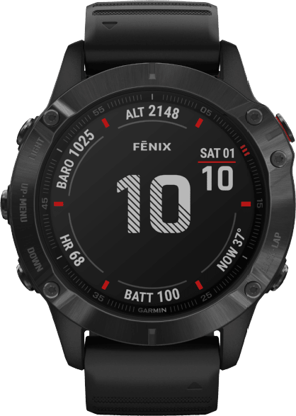 Black Garmin Fenix 6 Pro.1