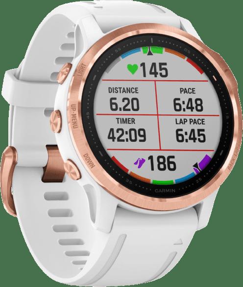 White Garmin Fenix 6s Pro GPS Sports watch.2