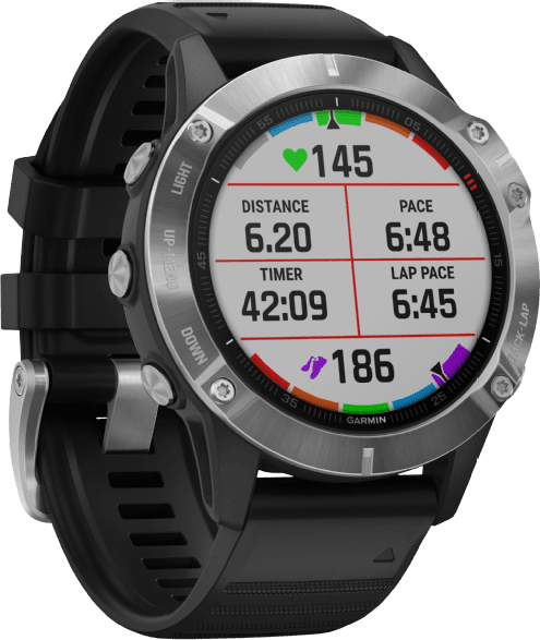 Black Garmin Fenix 6.2