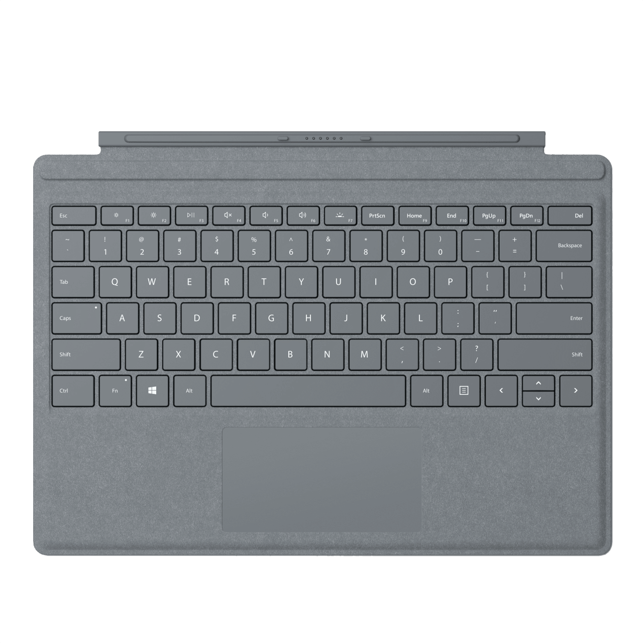 Platin Grau Microsoft Surface Pro Signature Type Cover  .1