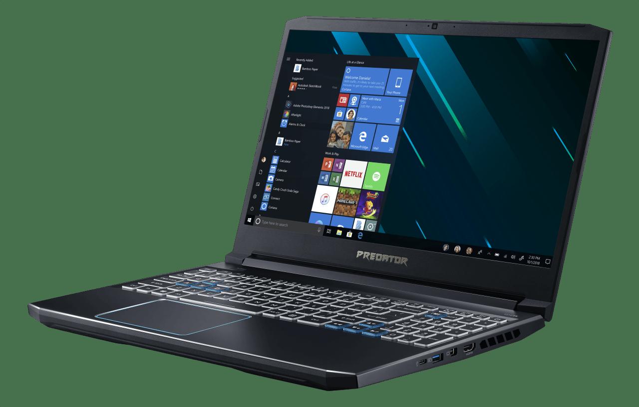 Black / Blue Acer Predator Helios 300.3