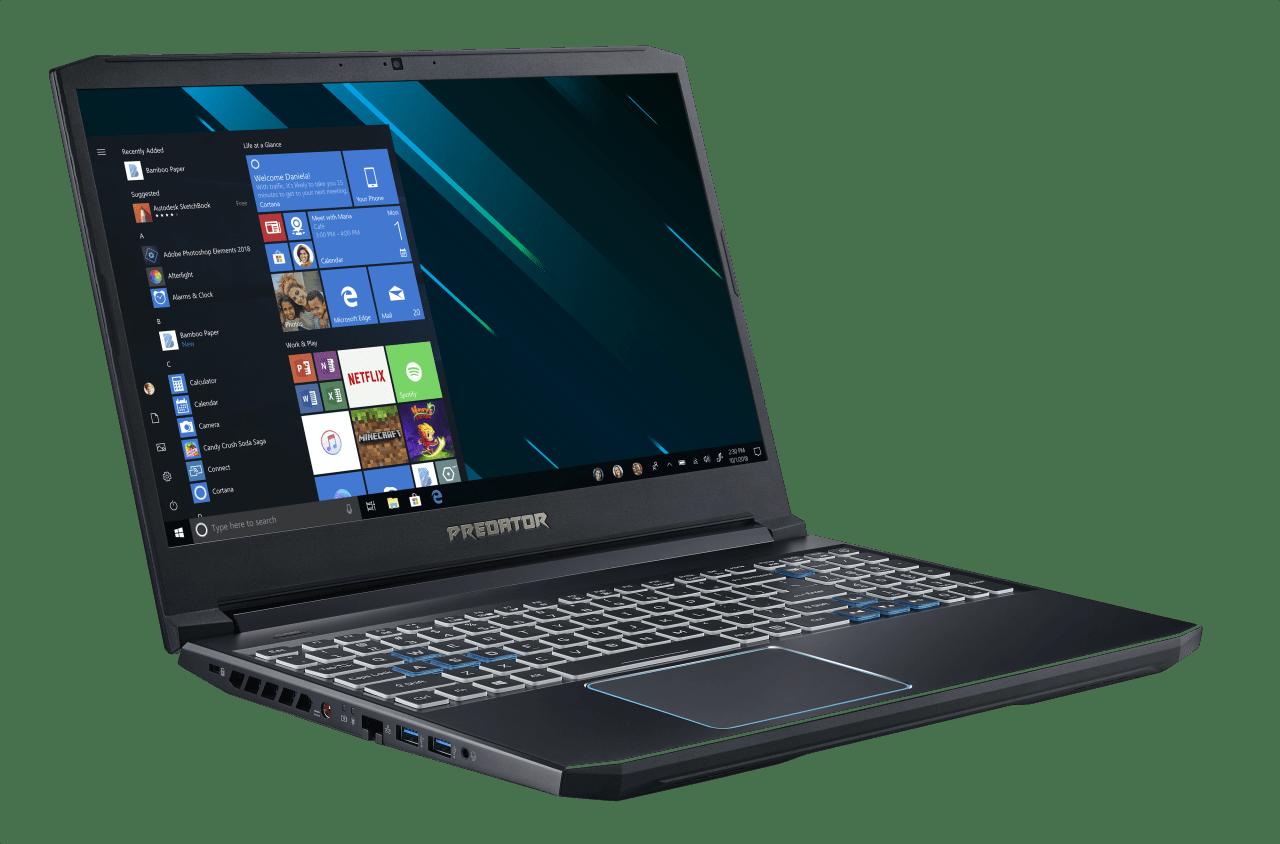 Black / Blue Acer Predator Helios 300.2