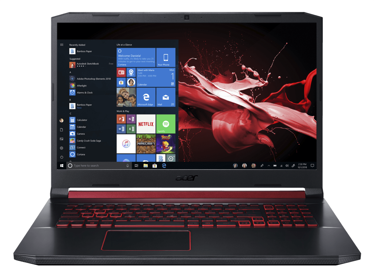 Black / Red Acer Nitro 5 AN517-51-56EU.1