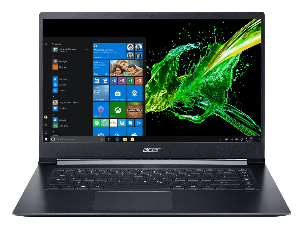 Black Acer Aspire 7 A715-73G-56YJ.1