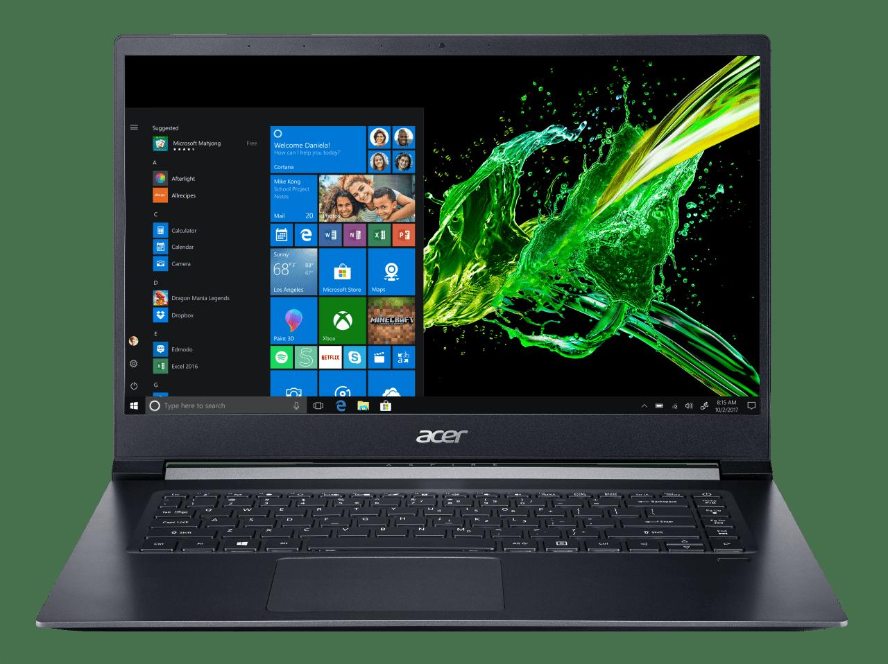 Black Acer Aspire 7 A715-73G-749C.1