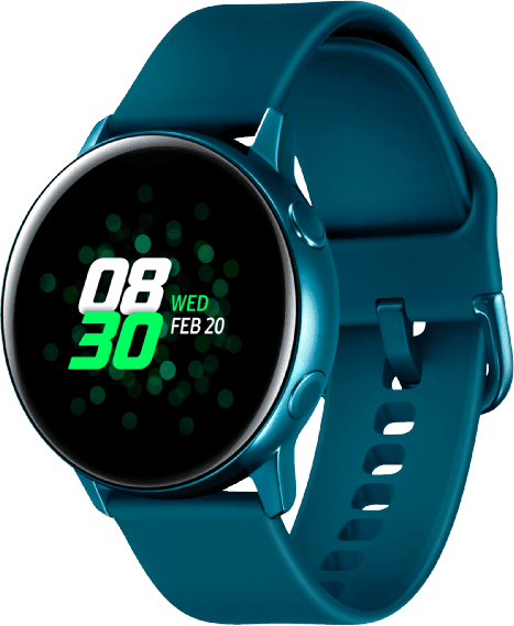 Green Samsung Galaxy Watch Active, 40mm Aluminium case, Silicone band.2