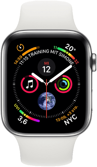 White & Stainless Apple Watch Series 4 GPS + Cellular, 44mm.1