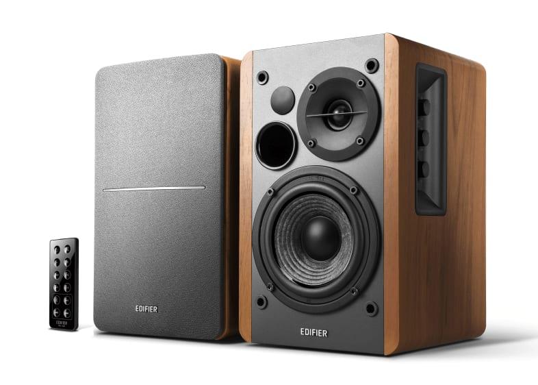 Wood Edifier Studio R1280DB Active 2.0 bookshelf HiFi speaker.1