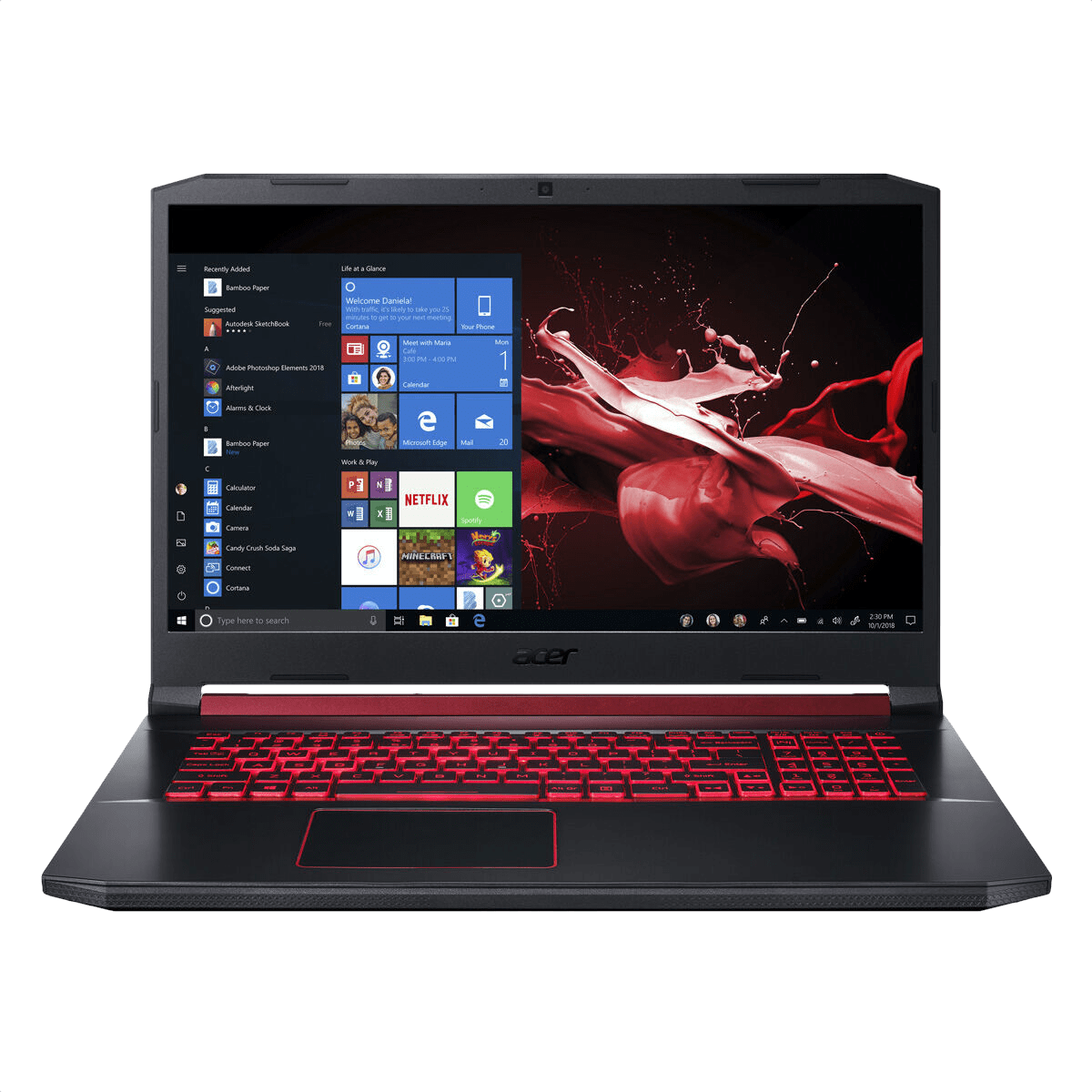 Black / Red Acer Nitro 5 AN517-51-76B3.1