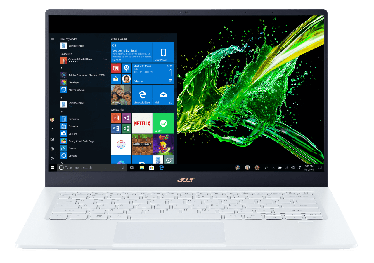 Weiß Acer Swift 5 SF514-54T-516A.1