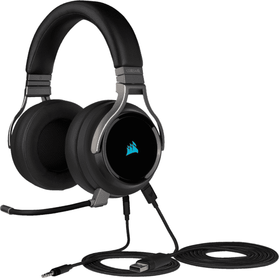 Black CORSAIR Virtuoso RGB Wireless Gaming Headphones.4