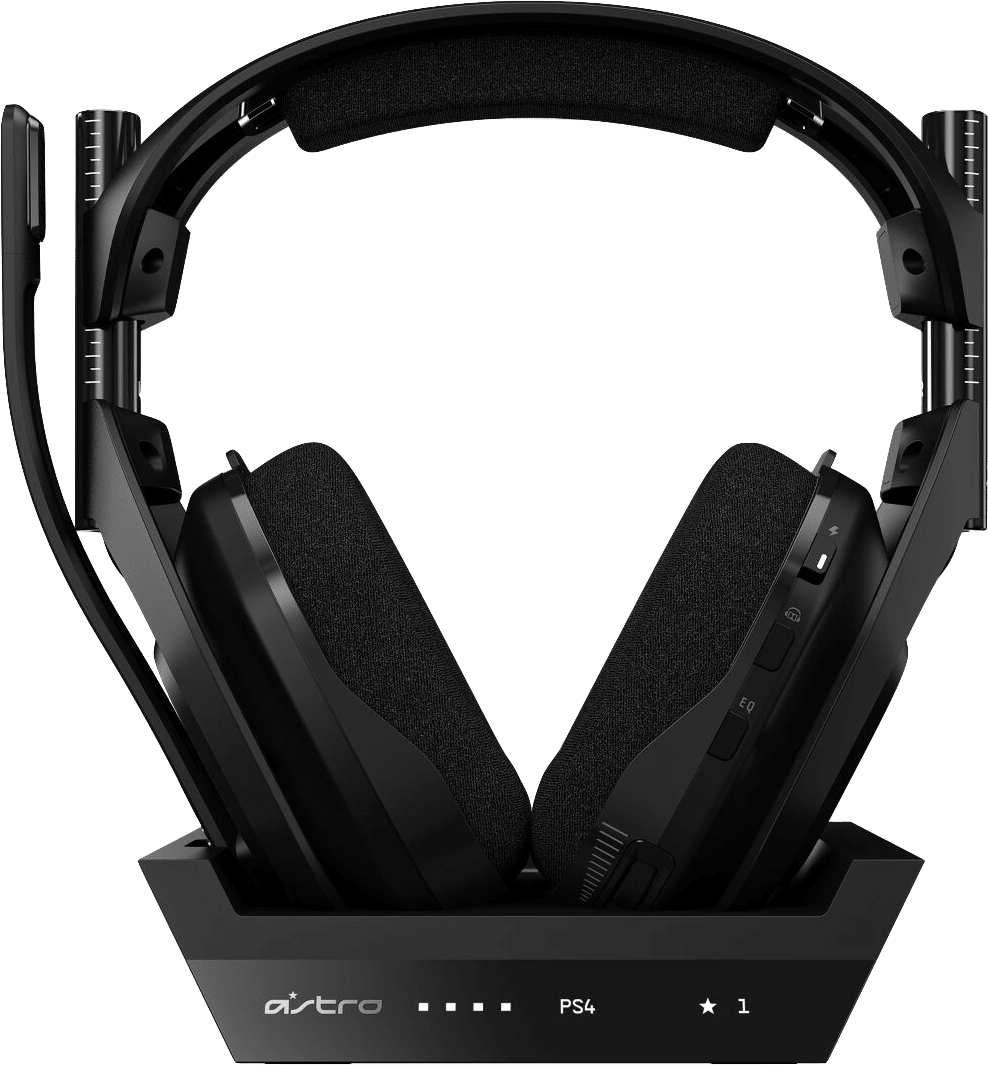 Black ASTRO Gaming A50 Wireless Headphones + Base Station, Gen 4.4