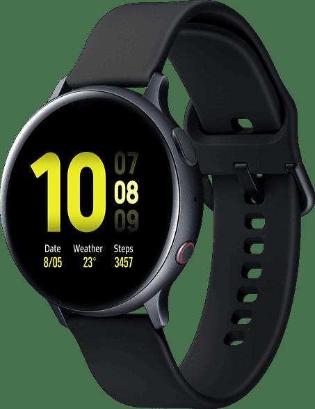Aqua Black Samsung Galaxy Watch Active2 LTE, 44mm Aluminium case, Fluororubber Strap.2