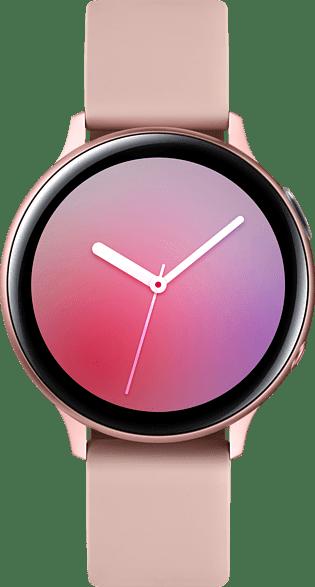 Pink Gold Samsung Galaxy Watch Active2 LTE, 44mm Aluminium case, Fluororubber Strap.1