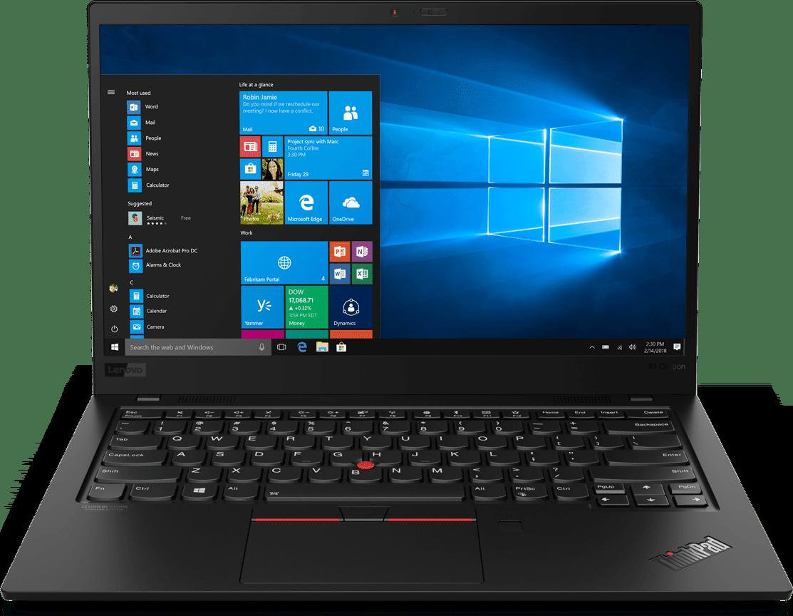 Schwarz Lenovo ThinkPad X1 Carbon G7.1