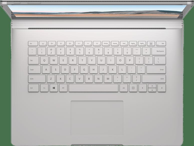 "Platinum Microsoft Surface Book 3 15"".5"
