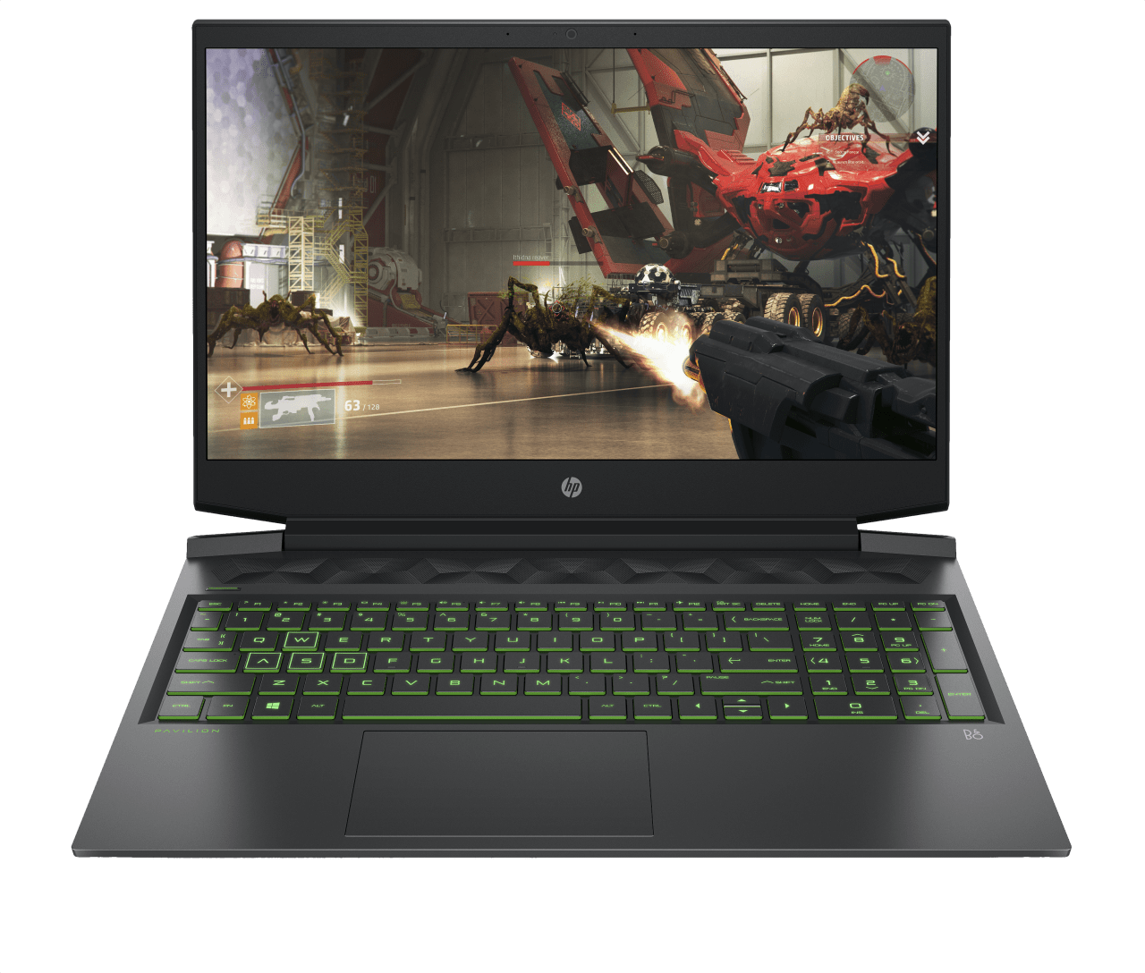 Shadow Black / Acid Green HP Pavilion Gaming 16-a0262ng.1