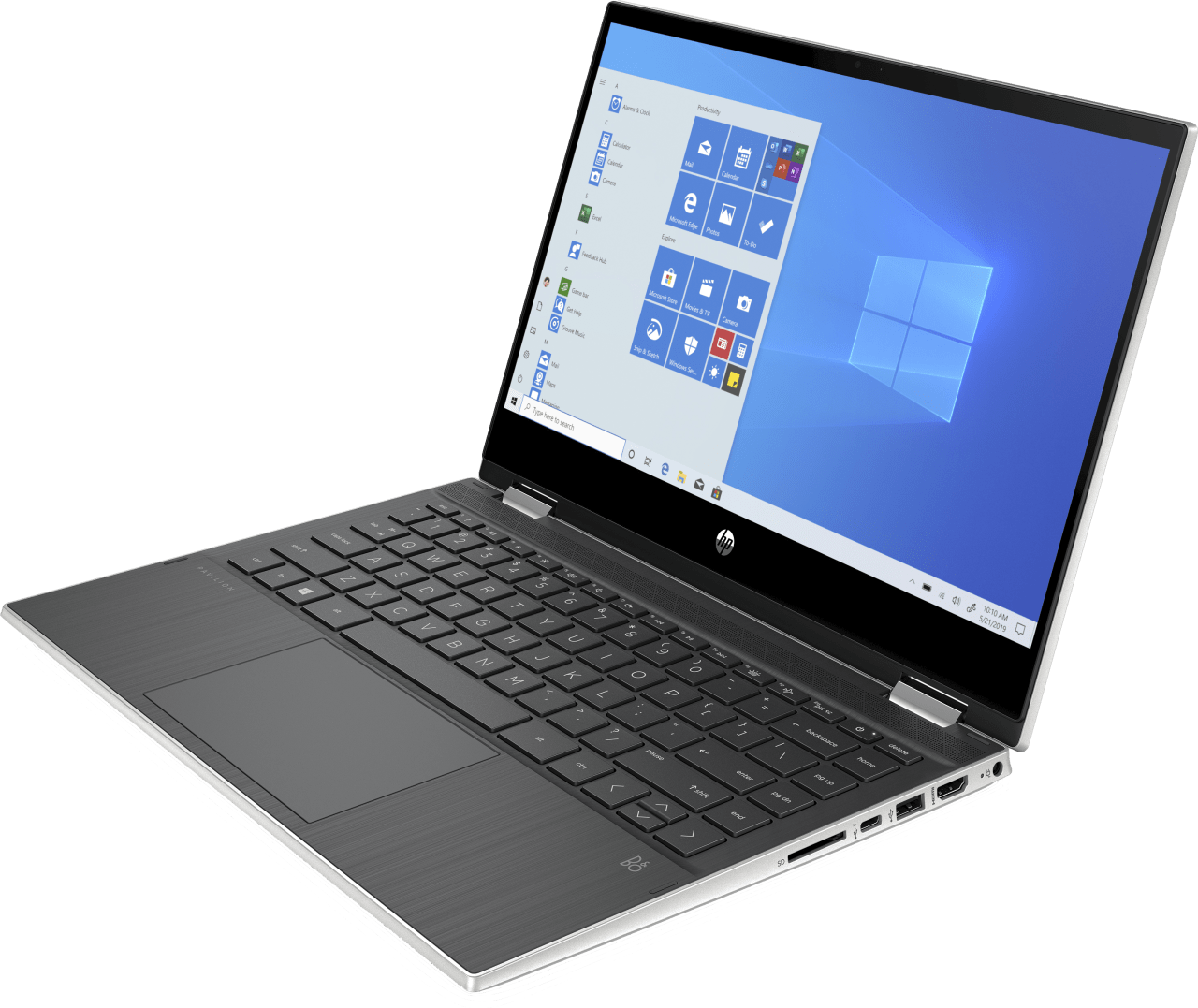 Natural Silver HP Pavilion x360 14-dw0231ng Convertible - Intel® Core™ i5-1035G1 - 8GB - 256GB PCIe - Intel® UHD Graphics.4