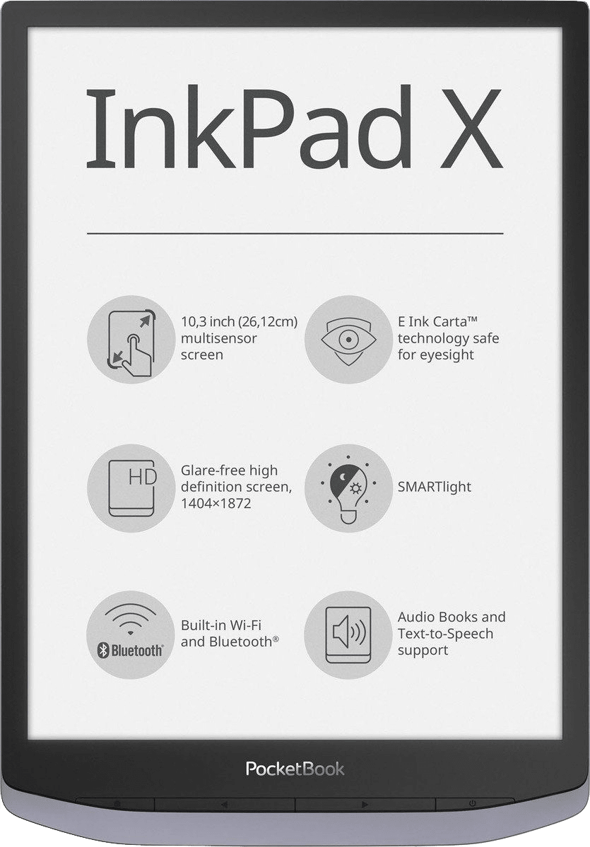 Metallic Gray PocketBook InkPad X 32GB (eBook Reader).2