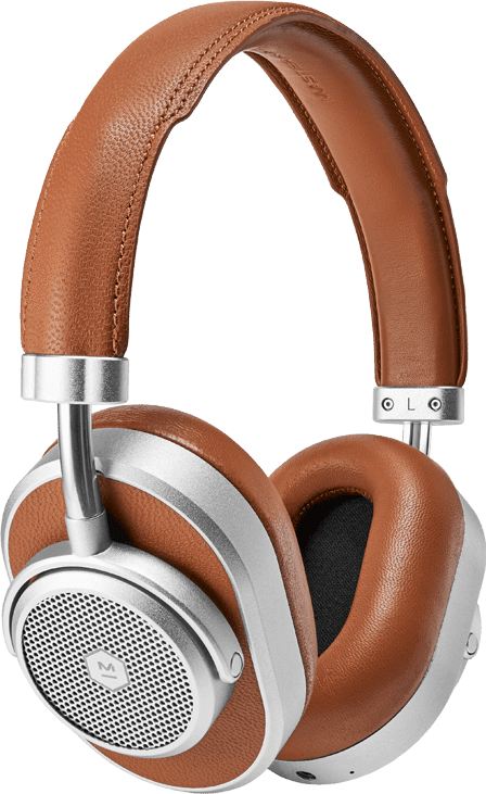 Silver/Brown Master & dynamic MW65 Noise-cancelling Over-ear Bluetooth headphones.1