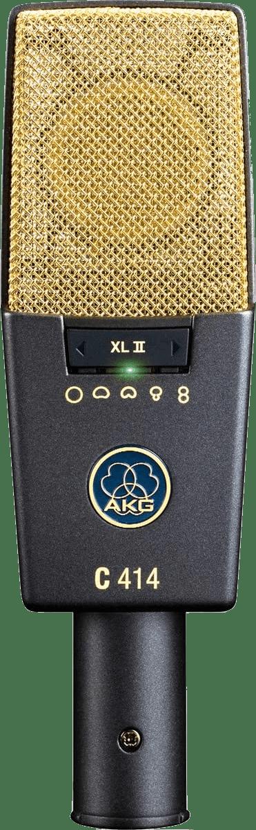 Dunkelgrau / Gold AKG C414 XLII Kondensatormikrofon.1