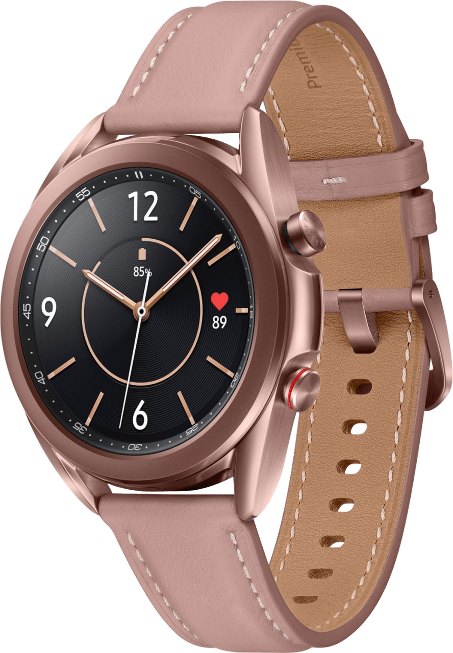 Mystic Bronze Samsung Galaxy Watch 3 (LTE), 41mm Stainless steel case, Real leather band.1