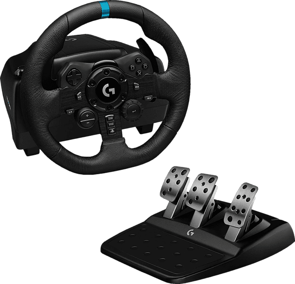 Black Logitech G923 Gaming Wheel (Playstation + PC).1