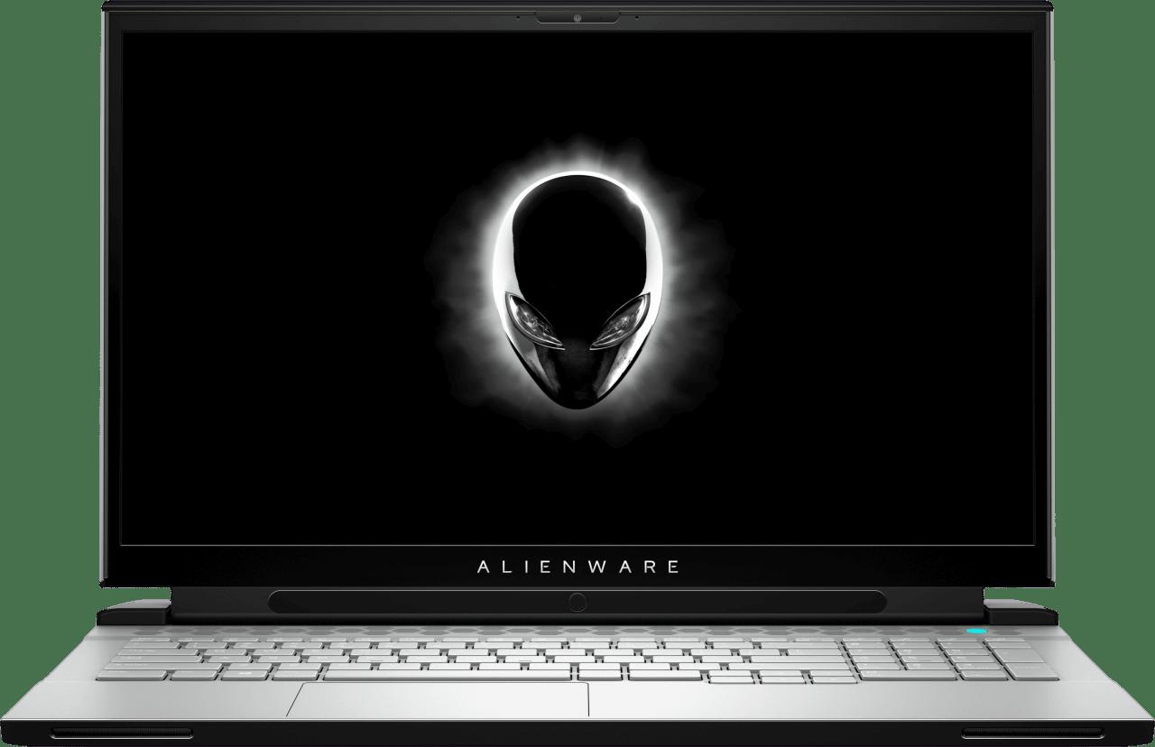 White Alienware m17 R3.1