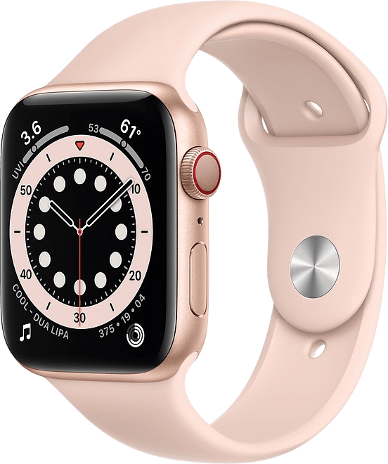Sand pink Apple Watch Series 6 GPS + Cellular, 40mm Aluminium case, Sport band.1