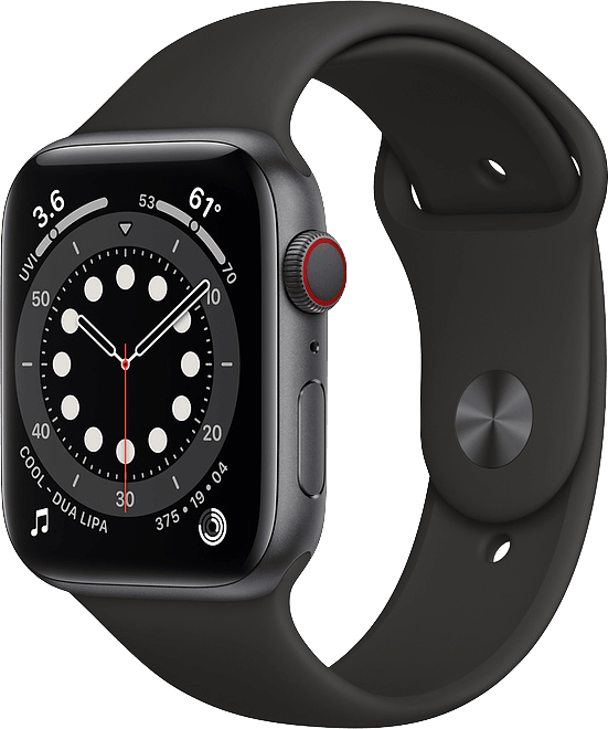 Black Apple Watch Series 6 GPS + Cellular , 40mm.1