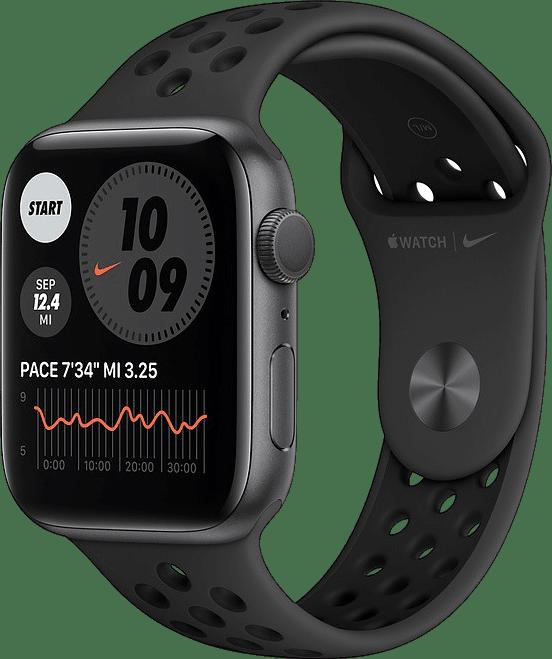 Anthracite/black Apple Watch Nike Series 6 GPS, 44mm Aluminium case, Sport band.1