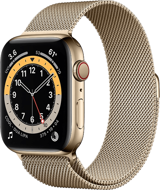 Gold Apple Watch Series 6 GPS + Cellular , 40mm.1