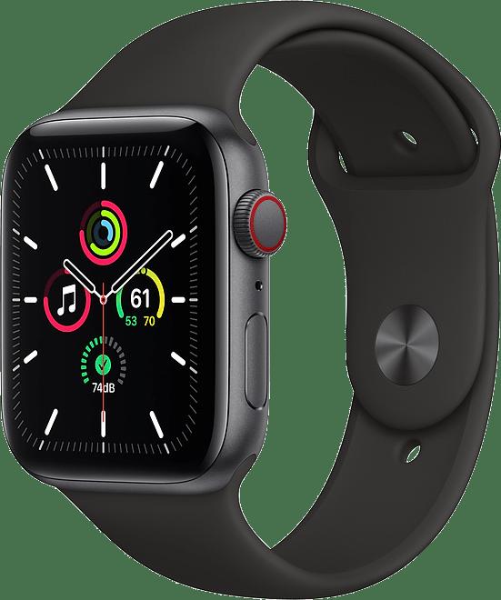 Negro Apple Watch SE GPS + Cellular, 40mm Caja de aluminio, banda deportiva.1