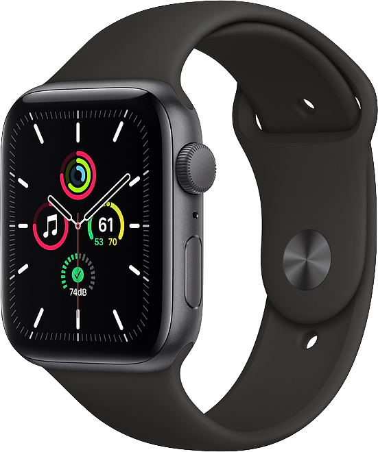 Black Apple Watch SE GPS, 40mm.1
